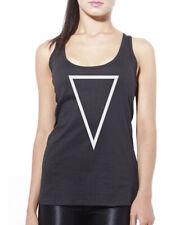 Geometric Shape - Upside Down Triangle Print Hipster Womens Vest Tank Top