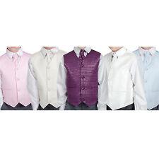 Boys Suits Waistcoat Suit Wedding Pageboy Grey 4pc Baby Diamond Suit 5 Colours