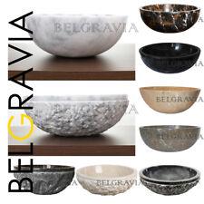 Marble Stone Sink Bathroom Basin Large Countertop Round Vanity Vessel Wash Bowl