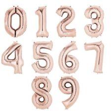 102cm Metalizado Oro Rosa Número Globos para Cumpleaños, Fiesta Boda,