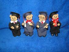 "New Teddy Bear Graduation Figurine 5 1/2"" Tall, 4 to pick from"
