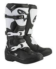 Alpinestars Tech-3 Motocross Boots Black/White MX Off-Road Enduro Trail Quad