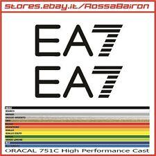 KIT 2 ADESIVI EA7 STRIPE EMPORIO ARMANI mm.50x18 - STICKERS DECALS PEGATINAS