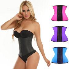 Latex Rubber Waist Trainer Cincher Underbust Corset Body Shaper Underwears Xmas