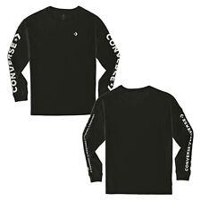 a418b4253597de Converse Star Chevron T-Shirt Wordmark Ls Long Sleeve Men Black