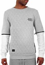 Rocawear Mens Brooklyn Quilted Zip Sleeve Sweatshirt  Hip Hop Time Money Is R003