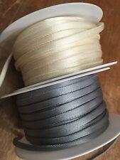 """Tubinh FLAT 1/4"""" SATIN TUBE 5mm EDGING BIAS 1 yd Made in France"""
