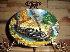 The Golden Age Of American Railroads ABOVE THE CANYON Hamilton TRAIN PLATE