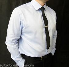 Herren Ex berühmt Shop Autogramm Himmelblau Shirts 100% Baumwolle, Single Manschette