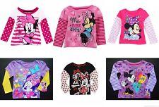 Minni Disney Luccicante Manica Lunga Camicia Nuova con Etichetta Bambini Taglia