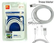 Calidad Premium Nuevo Micro USB 100% Genuino 3 metros cable de carga rápida de Sincronización &