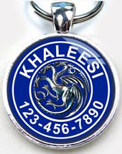 Game of Thrones Khaleesi Targaryen Blue Dragon ID tag CUSTOM pet tag dog cat
