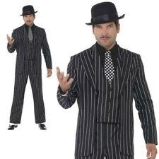 Nuovo Adulto Vintage Gangster Boss Costume per Uomo 1920s Mafia Vestito