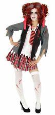 Blutiges Schulmädchen Kostüm Halloween Zombie Mädchen Damen Gr. 134-170 & XS-XL
