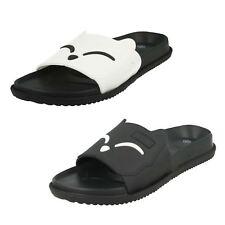 Señoras en Deslizamiento en Cara de Animal Zapatos sin Talón Peep Toe Verano