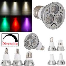 Dimmable 3W LED Spot Lights Energy Saving ES E27 SES E14 GU10 BC B22 Bulbs Lamps