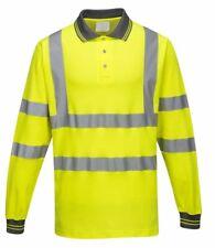 Portwest - Hi-Vis Workwear Long Sleeved Cotton Comfort Polo