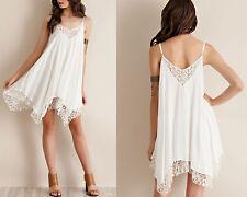 Vestito Donna Mini Scollo V Pizzo - Woman Mini Dress Lace V Neck 110161