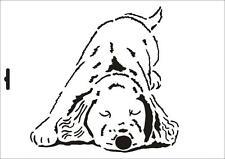 Wandschablone Maler T-shirt Schablone W-091 Hund ~ UMR Design