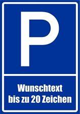 Kiwistar paf0127 Parkplatzschild Wunschtext bis zu 20 Zeichen nach Wahl