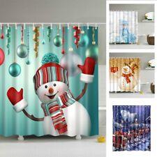 Christmas Shower Curtain Magical Xmas Tree Print for Bathroom