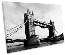 Tower of London Bridge City SINGLE CANVAS WALL ART Print Picture