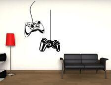 WALL STICKERS ADESIVI MURALI JOYSTICK VIDEOGIOCHI GAMER CONTROLLERS VIDEOGAMES