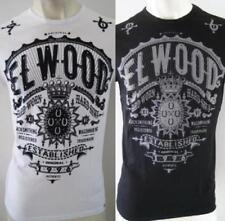 ELWOOD Mens Brand New Latest Premium Top Tee T-Shirt Size S M L XL XXL black fox