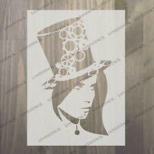 Women Head Tree Big Tailles Réutilisable Stencil Wall Decor Shabby Chic//TOL5