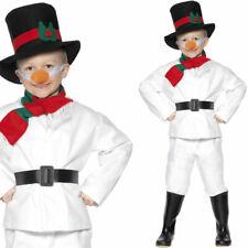 Kinder Schneemann Kostüm Weihnachten Verkleidung Schnee Man Outfit Smiffys