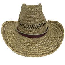 Outback Australia Straw Cowboy Sun Shade Hat Size S-XL