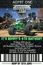 Monster Jam Invitation Monster Jam Party Printables Monster Truck Invitation