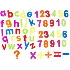 52 Piece Magnetic Alphabet Letters & Numbers Maths Symbols Colour Fridge Magnets