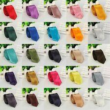 US Seller Mens Slim Plain Necktie Solid Color Casual Shirt Tie 40 Colors LD01