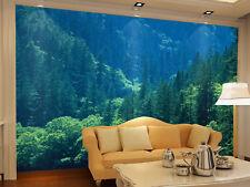 Papel Pintado Mural De Vellón Tropical Verde Bosque 21 Paisaje Fondo De Pantalla