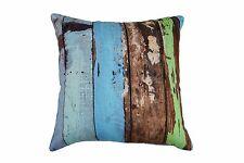100% Cotton Cushion - Blue Driftwood Design 45 x 45 cm