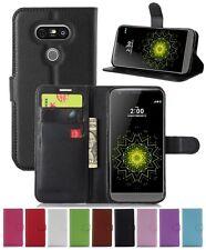 Wallet Leather Flip Card Holder Case Pouch Cover For LG G5 Genuine Oz Seller