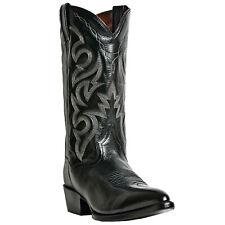 Dan Post Mens Black Leather Milwaukee J Toe 13in Cowboy Boots