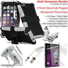 Antiurto Heavy Duty telefono Dual Layer Custodia Cover ✔ valore Accessorio Pack ✔ Bianco