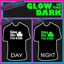 Kiss ME I'M IRISH irlande Paddys Jour St Patricks tshirt lueur dans l'obscurité