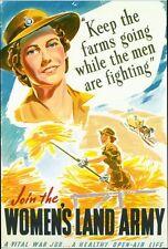 Vintage World War 2 Womens Land Army Poster A3/A2/A1 Print