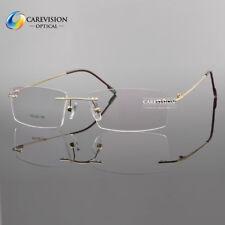 Unisex Rimless Flexible Titanium Alloy Reading Glasses UV400 Coating Lens Reader