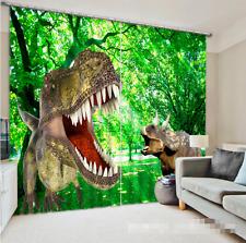 3D Dinosaurier 580 Blockade Foto Vorhang Druckvorhang Vorhänge Stoff Fenster DE