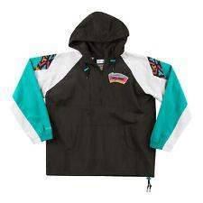 San Antonio Spurs Mitchell & Ness NBA Half-Zip Anorak Jacket - Black/Teal