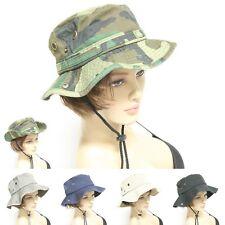 Mens Womens Boonie Military Bucket Fishing Camping Hunting Adjust Hat Wide Brim
