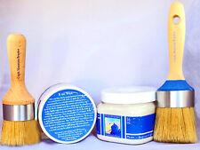 Chalk Furniture Paint Kit 16 oz paint (44 colors) 4 oz clear wax, 2 Boar Brushes