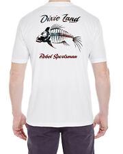 Dixie Land Outdoors Short Sleeve Micro Fiber T-Shirt  Bass flag Fishing uv 30+