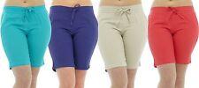 Tom Franks Ladies Linen Blend Pull On Ribbed Waist Shorts