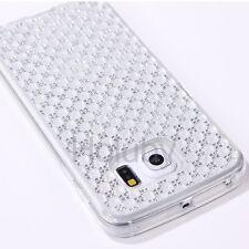 De lujo Diamante Joyas de Cristal Transparente TPU Blando Cubierta Estuche Para Samsung