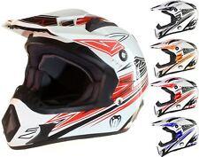 Casco protector para motocross todoterreno enduro MX - Negro rojo naranja azul